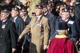 March Past, Remembrance Sunday at the Cenotaph 2016: A03 King's Own Scottish Borderers Association. Cenotaph, Whitehall, London SW1, London, Greater London, United Kingdom, on 13 November 2016 at 12:38, image #47