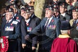 March Past, Remembrance Sunday at the Cenotaph 2016: A03 King's Own Scottish Borderers Association. Cenotaph, Whitehall, London SW1, London, Greater London, United Kingdom, on 13 November 2016 at 12:38, image #48