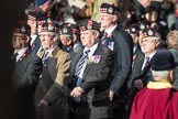 March Past, Remembrance Sunday at the Cenotaph 2016: A03 King's Own Scottish Borderers Association. Cenotaph, Whitehall, London SW1, London, Greater London, United Kingdom, on 13 November 2016 at 12:38, image #54