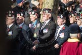 March Past, Remembrance Sunday at the Cenotaph 2016: A03 King's Own Scottish Borderers Association. Cenotaph, Whitehall, London SW1, London, Greater London, United Kingdom, on 13 November 2016 at 12:38, image #56
