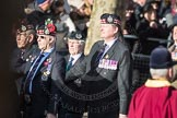 March Past, Remembrance Sunday at the Cenotaph 2016: A03 King's Own Scottish Borderers Association. Cenotaph, Whitehall, London SW1, London, Greater London, United Kingdom, on 13 November 2016 at 12:38, image #58