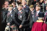 March Past, Remembrance Sunday at the Cenotaph 2016: 07 Scots Guards Association. Cenotaph, Whitehall, London SW1, London, Greater London, United Kingdom, on 13 November 2016 at 12:39, image #83