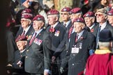 March Past, Remembrance Sunday at the Cenotaph 2016: A08 Guards Parachute Association. Cenotaph, Whitehall, London SW1, London, Greater London, United Kingdom, on 13 November 2016 at 12:39, image #89
