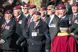 March Past, Remembrance Sunday at the Cenotaph 2016: A08 Guards Parachute Association. Cenotaph, Whitehall, London SW1, London, Greater London, United Kingdom, on 13 November 2016 at 12:39, image #90
