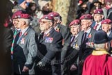 March Past, Remembrance Sunday at the Cenotaph 2016: A08 Guards Parachute Association. Cenotaph, Whitehall, London SW1, London, Greater London, United Kingdom, on 13 November 2016 at 12:39, image #94