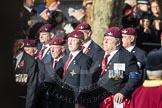 March Past, Remembrance Sunday at the Cenotaph 2016: A09 4 Company Association (Parachute Regiment). Cenotaph, Whitehall, London SW1, London, Greater London, United Kingdom, on 13 November 2016 at 12:39, image #96
