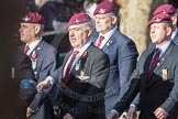 March Past, Remembrance Sunday at the Cenotaph 2016: A09 4 Company Association (Parachute Regiment). Cenotaph, Whitehall, London SW1, London, Greater London, United Kingdom, on 13 November 2016 at 12:39, image #97