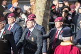 March Past, Remembrance Sunday at the Cenotaph 2016: A09 4 Company Association (Parachute Regiment). Cenotaph, Whitehall, London SW1, London, Greater London, United Kingdom, on 13 November 2016 at 12:39, image #98