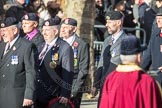 March Past, Remembrance Sunday at the Cenotaph 2016: A11 The Royal Hampshire Regimental Club. Cenotaph, Whitehall, London SW1, London, Greater London, United Kingdom, on 13 November 2016 at 12:40, image #107