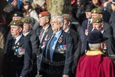March Past, Remembrance Sunday at the Cenotaph 2016: A12 Green Howards Association. Cenotaph, Whitehall, London SW1, London, Greater London, United Kingdom, on 13 November 2016 at 12:40, image #117