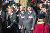 March Past, Remembrance Sunday at the Cenotaph 2016: A13 Cheshire Regiment Association. Cenotaph, Whitehall, London SW1, London, Greater London, United Kingdom, on 13 November 2016 at 12:40, image #120