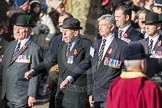 March Past, Remembrance Sunday at the Cenotaph 2016: A13 Cheshire Regiment Association. Cenotaph, Whitehall, London SW1, London, Greater London, United Kingdom, on 13 November 2016 at 12:40, image #121