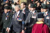 March Past, Remembrance Sunday at the Cenotaph 2016: A13 Cheshire Regiment Association. Cenotaph, Whitehall, London SW1, London, Greater London, United Kingdom, on 13 November 2016 at 12:40, image #122
