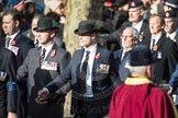 March Past, Remembrance Sunday at the Cenotaph 2016: A13 Cheshire Regiment Association. Cenotaph, Whitehall, London SW1, London, Greater London, United Kingdom, on 13 November 2016 at 12:40, image #123