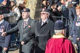 March Past, Remembrance Sunday at the Cenotaph 2016: A14 Sherwood Foresters & Worcestershire Regiment. Cenotaph, Whitehall, London SW1, London, Greater London, United Kingdom, on 13 November 2016 at 12:40, image #129