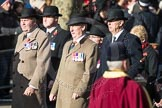 March Past, Remembrance Sunday at the Cenotaph 2016: A15 The King's Own Royal Border Regimen. Cenotaph, Whitehall, London SW1, London, Greater London, United Kingdom, on 13 November 2016 at 12:40, image #133