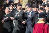 March Past, Remembrance Sunday at the Cenotaph 2016: A16 The Staffordshire Regiment. Cenotaph, Whitehall, London SW1, London, Greater London, United Kingdom, on 13 November 2016 at 12:41, image #154