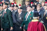 March Past, Remembrance Sunday at the Cenotaph 2016: A21 Fusiliers Association Lancashire. Cenotaph, Whitehall, London SW1, London, Greater London, United Kingdom, on 13 November 2016 at 12:41, image #184