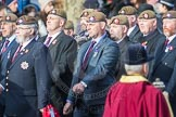 March Past, Remembrance Sunday at the Cenotaph 2016: A22 Irish Guards Association - Republic of Ireland Branch. Cenotaph, Whitehall, London SW1, London, Greater London, United Kingdom, on 13 November 2016 at 12:41, image #189