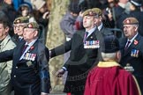 March Past, Remembrance Sunday at the Cenotaph 2016: A23 Light Infantry Associati. Cenotaph, Whitehall, London SW1, London, Greater London, United Kingdom, on 13 November 2016 at 12:41, image #192