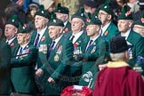 March Past, Remembrance Sunday at the Cenotaph 2016: A24 Regimental Association of the Royal Irish Regiment. Cenotaph, Whitehall, London SW1, London, Greater London, United Kingdom, on 13 November 2016 at 12:41, image #196