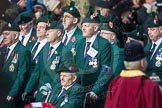 March Past, Remembrance Sunday at the Cenotaph 2016: A24 Regimental Association of the Royal Irish Regiment. Cenotaph, Whitehall, London SW1, London, Greater London, United Kingdom, on 13 November 2016 at 12:41, image #197