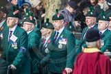 March Past, Remembrance Sunday at the Cenotaph 2016: A24 Regimental Association of the Royal Irish Regiment. Cenotaph, Whitehall, London SW1, London, Greater London, United Kingdom, on 13 November 2016 at 12:41, image #198