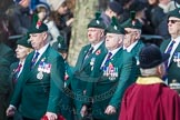 March Past, Remembrance Sunday at the Cenotaph 2016: A24 Regimental Association of the Royal Irish Regiment. Cenotaph, Whitehall, London SW1, London, Greater London, United Kingdom, on 13 November 2016 at 12:41, image #199