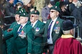 March Past, Remembrance Sunday at the Cenotaph 2016: A24 Regimental Association of the Royal Irish Regiment. Cenotaph, Whitehall, London SW1, London, Greater London, United Kingdom, on 13 November 2016 at 12:41, image #200
