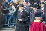 March Past, Remembrance Sunday at the Cenotaph 2016: A25 Royal Northumbaland Fusiliers All Ranks Club. Cenotaph, Whitehall, London SW1, London, Greater London, United Kingdom, on 13 November 2016 at 12:41, image #201