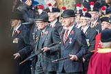March Past, Remembrance Sunday at the Cenotaph 2016: A25 Royal Northumbaland Fusiliers All Ranks Club. Cenotaph, Whitehall, London SW1, London, Greater London, United Kingdom, on 13 November 2016 at 12:41, image #204