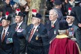 March Past, Remembrance Sunday at the Cenotaph 2016: A25 Royal Northumbaland Fusiliers All Ranks Club. Cenotaph, Whitehall, London SW1, London, Greater London, United Kingdom, on 13 November 2016 at 12:42, image #209