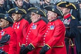 March Past, Remembrance Sunday at the Cenotaph 2016: A36 Royal Hospital Chelsea. Cenotaph, Whitehall, London SW1, London, Greater London, United Kingdom, on 13 November 2016 at 12:44, image #274