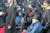 March Past, Remembrance Sunday at the Cenotaph 2016: A37 Queen Alexandra's Hospital Home for Disabled Ex-Servicemen & Women. Cenotaph, Whitehall, London SW1, London, Greater London, United Kingdom, on 13 November 2016 at 12:44, image #284