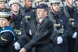 March Past, Remembrance Sunday at the Cenotaph 2016: A37 Queen Alexandra's Hospital Home for Disabled Ex-Servicemen & Women. Cenotaph, Whitehall, London SW1, London, Greater London, United Kingdom, on 13 November 2016 at 12:44, image #288