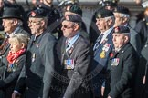 March Past, Remembrance Sunday at the Cenotaph 2016: B13 Royal Army Medical Corps Association. Cenotaph, Whitehall, London SW1, London, Greater London, United Kingdom, on 13 November 2016 at 12:48, image #511
