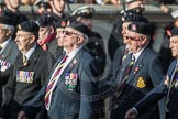 March Past, Remembrance Sunday at the Cenotaph 2016: B13 Royal Army Medical Corps Association. Cenotaph, Whitehall, London SW1, London, Greater London, United Kingdom, on 13 November 2016 at 12:48, image #514