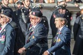 March Past, Remembrance Sunday at the Cenotaph 2016: B13 Royal Army Medical Corps Association. Cenotaph, Whitehall, London SW1, London, Greater London, United Kingdom, on 13 November 2016 at 12:48, image #515
