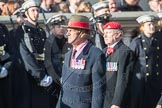 March Past, Remembrance Sunday at the Cenotaph 2016: B14 Royal Military Police Association. Cenotaph, Whitehall, London SW1, London, Greater London, United Kingdom, on 13 November 2016 at 12:48, image #518