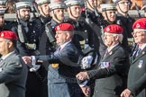 March Past, Remembrance Sunday at the Cenotaph 2016: B14 Royal Military Police Association. Cenotaph, Whitehall, London SW1, London, Greater London, United Kingdom, on 13 November 2016 at 12:48, image #523