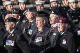March Past, Remembrance Sunday at the Cenotaph 2016: B16 Royal Army Pay Corps Regimental Association. Cenotaph, Whitehall, London SW1, London, Greater London, United Kingdom, on 13 November 2016 at 12:49, image #557