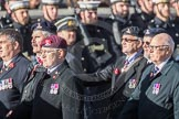 March Past, Remembrance Sunday at the Cenotaph 2016: B16 Royal Army Pay Corps Regimental Association. Cenotaph, Whitehall, London SW1, London, Greater London, United Kingdom, on 13 November 2016 at 12:49, image #558