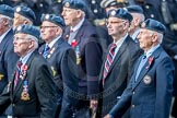 March Past, Remembrance Sunday at the Cenotaph 2016: C06 National Service (Royal Air Force) Association. Cenotaph, Whitehall, London SW1, London, Greater London, United Kingdom, on 13 November 2016 at 12:53, image #850