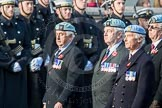 March Past, Remembrance Sunday at the Cenotaph 2016: C34 7 Regiment Army Air Corps (Volunteers) Association. Cenotaph, Whitehall, London SW1, London, Greater London, United Kingdom, on 13 November 2016 at 12:56, image #1104