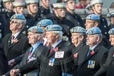 March Past, Remembrance Sunday at the Cenotaph 2016: C34 7 Regiment Army Air Corps (Volunteers) Association. Cenotaph, Whitehall, London SW1, London, Greater London, United Kingdom, on 13 November 2016 at 12:56, image #1109