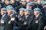 March Past, Remembrance Sunday at the Cenotaph 2016: C34 7 Regiment Army Air Corps (Volunteers) Association. Cenotaph, Whitehall, London SW1, London, Greater London, United Kingdom, on 13 November 2016 at 12:56, image #1110