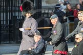 March Past, Remembrance Sunday at the Cenotaph 2016: F01 Blind Veterans UK. Cenotaph, Whitehall, London SW1, London, Greater London, United Kingdom, on 13 November 2016 at 12:57, image #1149