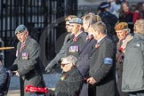 March Past, Remembrance Sunday at the Cenotaph 2016: F01 Blind Veterans UK. Cenotaph, Whitehall, London SW1, London, Greater London, United Kingdom, on 13 November 2016 at 12:57, image #1151