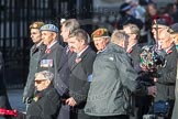 March Past, Remembrance Sunday at the Cenotaph 2016: F01 Blind Veterans UK. Cenotaph, Whitehall, London SW1, London, Greater London, United Kingdom, on 13 November 2016 at 12:57, image #1152