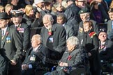 March Past, Remembrance Sunday at the Cenotaph 2016: F01 Blind Veterans UK. Cenotaph, Whitehall, London SW1, London, Greater London, United Kingdom, on 13 November 2016 at 12:58, image #1219